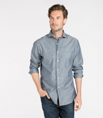 Brad Chambray Shirt LS Made in USA | Ramblers Way