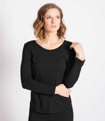 Wool Scoop Neck Made in USA | RAMBLERS WAY
