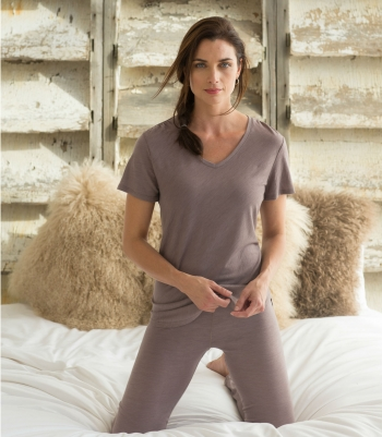 Organic Wool Stella V-Neck Made in USA | Ramblers Way