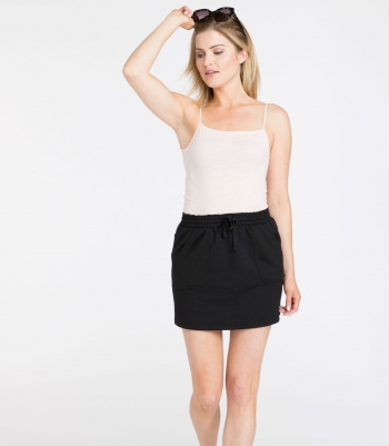 French Terry Wool Skirt Made in USA | RAMBLERS WAY