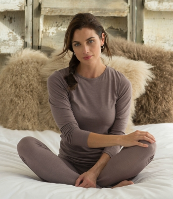 Organic Wool Scoop Neck Made in USA | Ramblers Way