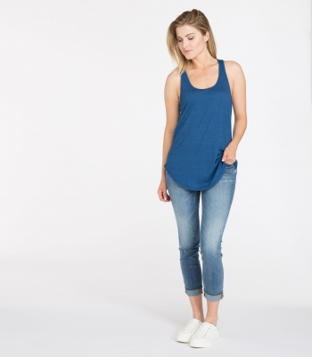 Organic Wool Racerback Tank Made in USA | Ramblers Way