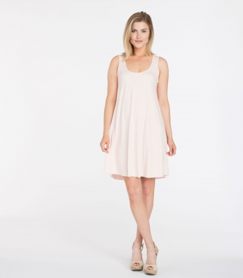 Organic Wool Sleeveless Swing Dress Made in USA | Ramblers Way