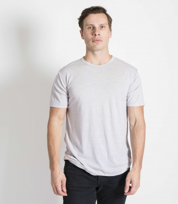 Organic Wool Crew Neck SS Made in USA | Ramblers Way