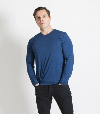 Organic Wool Cross Neck LS Made in USA | Ramblers Way