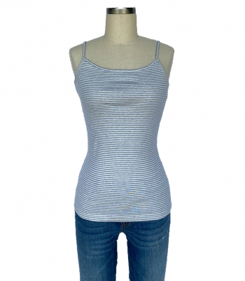 Organic Cotton Rib Knit Camisole Made in USA | RAMBLERS WAY