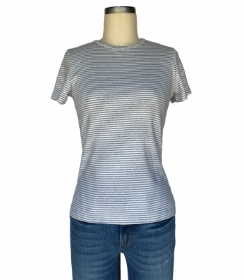 Organic Cotton Rib Knit Jewel Neck - SS Made in USA | RAMBLERS WAY