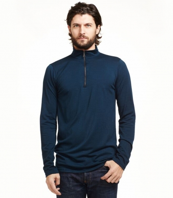 Wool Quarter Zip Pullover Made in USA | RAMBLERS WAY