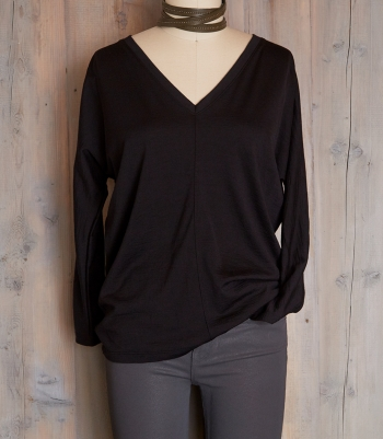 V-Neck Wool Kimono Made in USA | Ramblers Way