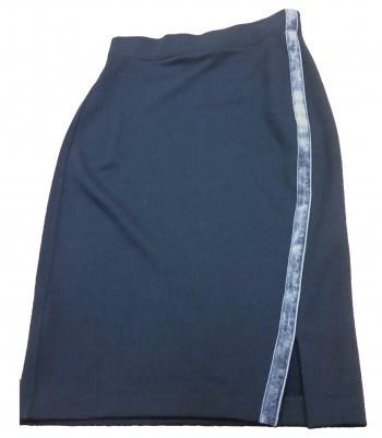 Velvet Trim French Terry Wool Skirt Made in USA | Ramblers Way