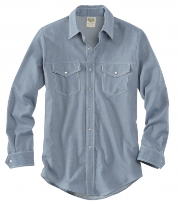 Wool Western Gabardine Shirt - Long Sleeve Made in USA | RAMBLERS WAY