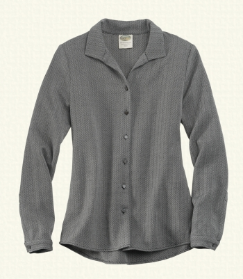 The Betsy - Wool Herringbone Manhattan Shirt - FINAL SALE Made in USA | Ramblers Way