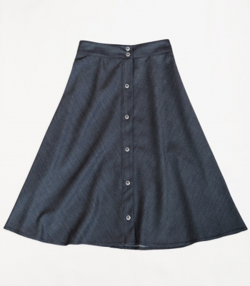 Wool Four Panel Skirt - FINAL SALE Made in USA | RAMBLERS WAY