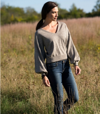 Wool Balloon Sleeve Sweater - Final Sale Made in USA | Ramblers Way