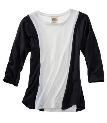 Cotton 3/4 Sleeve Color Block - FINAL SALE Made in USA | Ramblers Way