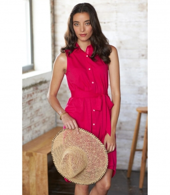 Cotton Sleeveless Swing Dress Made in USA | Ramblers Way