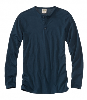 Pima Cotton Henley - FINAL SALE Made in USA | Ramblers Way