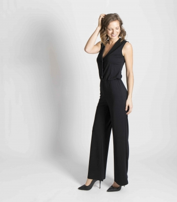 Wool Wide Leg Jumpsuit Made in USA | Ramblers Way