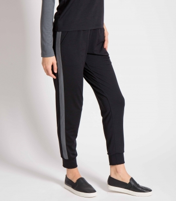 Wool Jersey Stripe Jogger Made in USA | RAMBLERS WAY