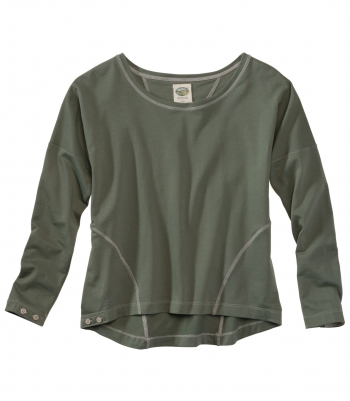 Women's Cotton French Terry Pullover - Long Sleeve Made in USA | Ramblers Way