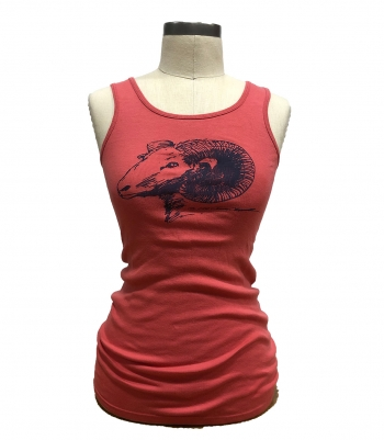 Cotton Tank Top with Ram Made in USA | RAMBLERS WAY