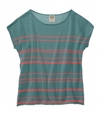 Cotton Striped Sweater - Short Sleeve - FINAL SALE Made in USA | Ramblers Way