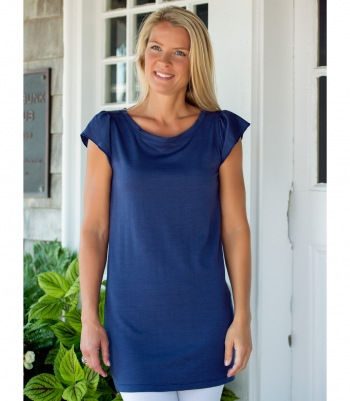 Women's Wool Cap Sleeve Tunic Made in USA | Ramblers Way