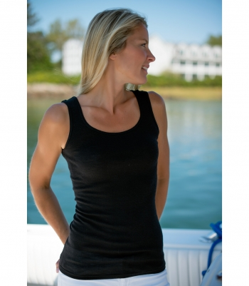 Wool Tank with Center Back Seam Made in USA | Ramblers Way