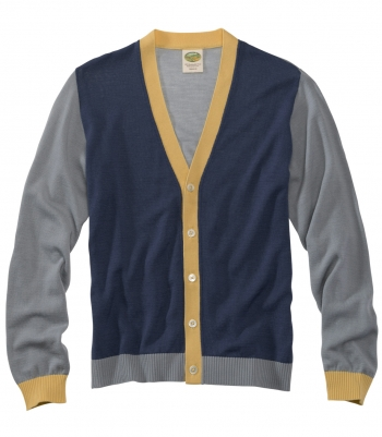 Wool Chelsea Color Block Cardigan - FINAL SALE Made in USA | Ramblers Way