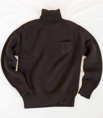 Wool Turtleneck Sweater with Pocket Made in USA | Ramblers Way
