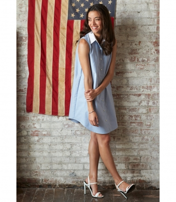 Cotton Tunic Dress Made in USA | RAMBLERS WAY