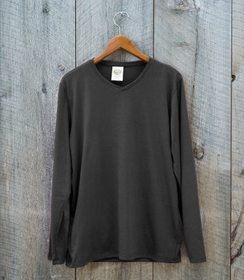 Pima Cotton Cross Neck Tee - Long Sleeve Made in USA | Ramblers Way