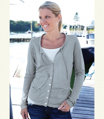 Wool Drawstring Cardigan Made in USA | Ramblers Way