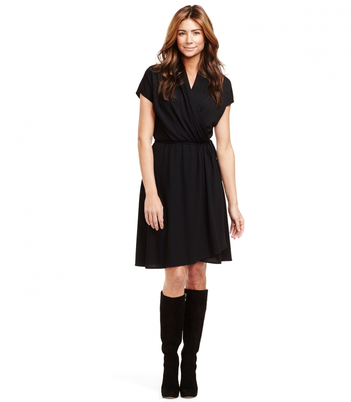 Wool Asymmetrical Wrap Dress Made in USA | Ramblers Way
