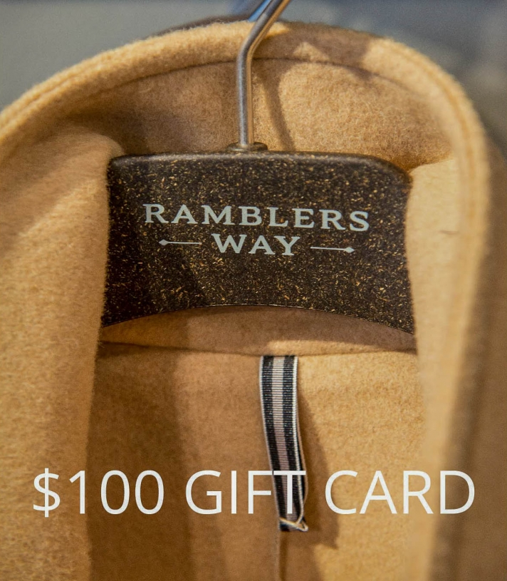 $100 GIFT CARD Made in USA | Ramblers Way
