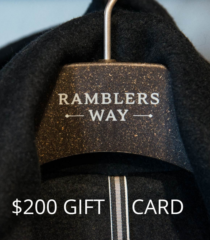 $200 GIFT CARD Made in USA | Ramblers Way