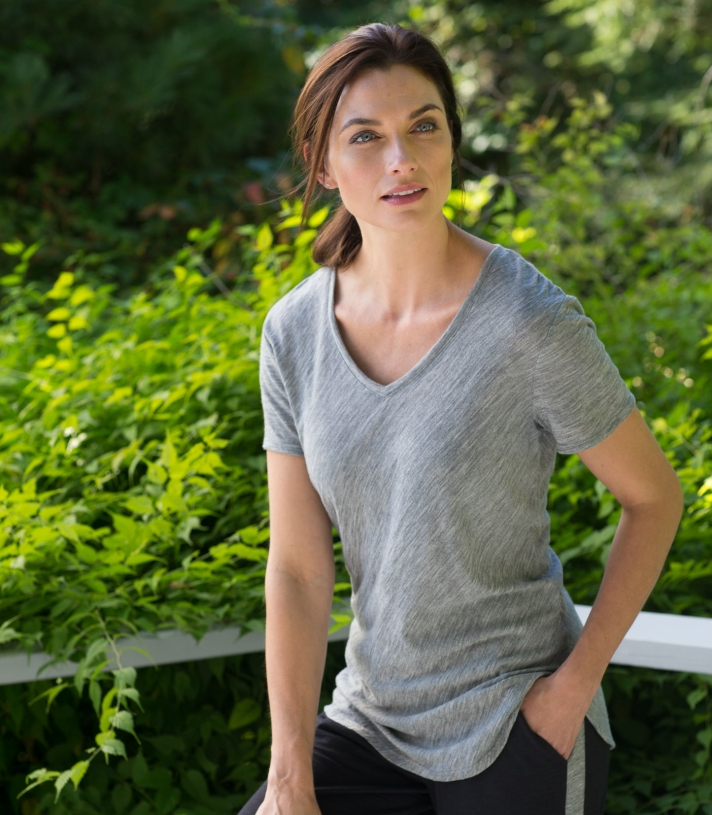 Wool Stella V-Neck Made in USA | Ramblers Way