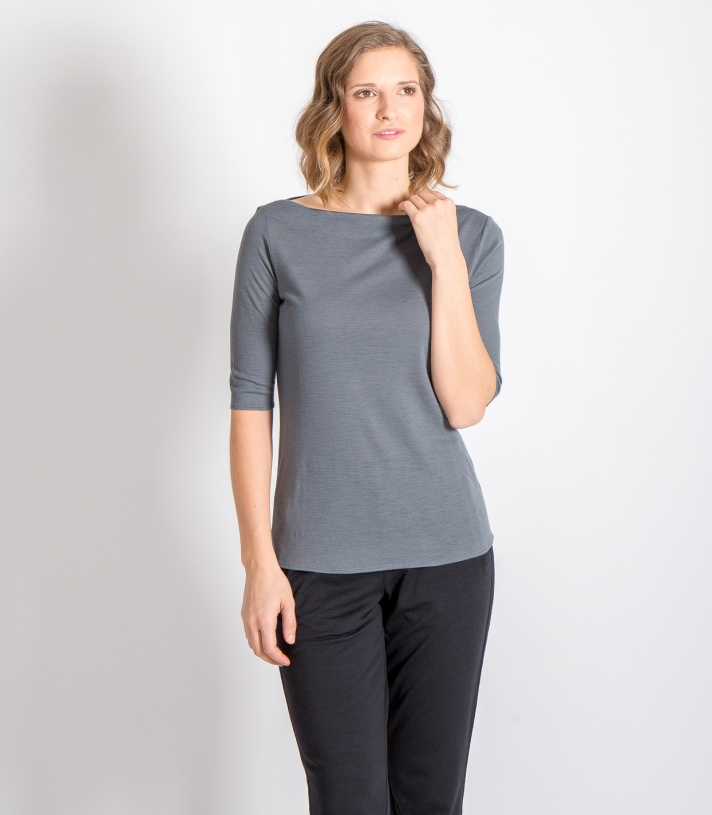 Wool Dressy Boat Neck Made in USA | RAMBLERS WAY