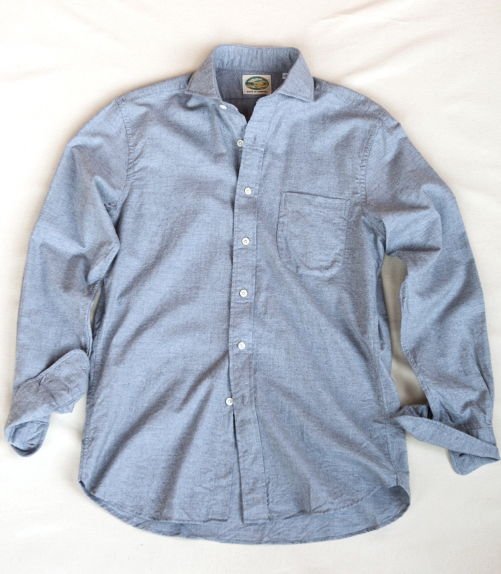 Cotton Wales Fitted Shirt Made in USA | RAMBLERS WAY