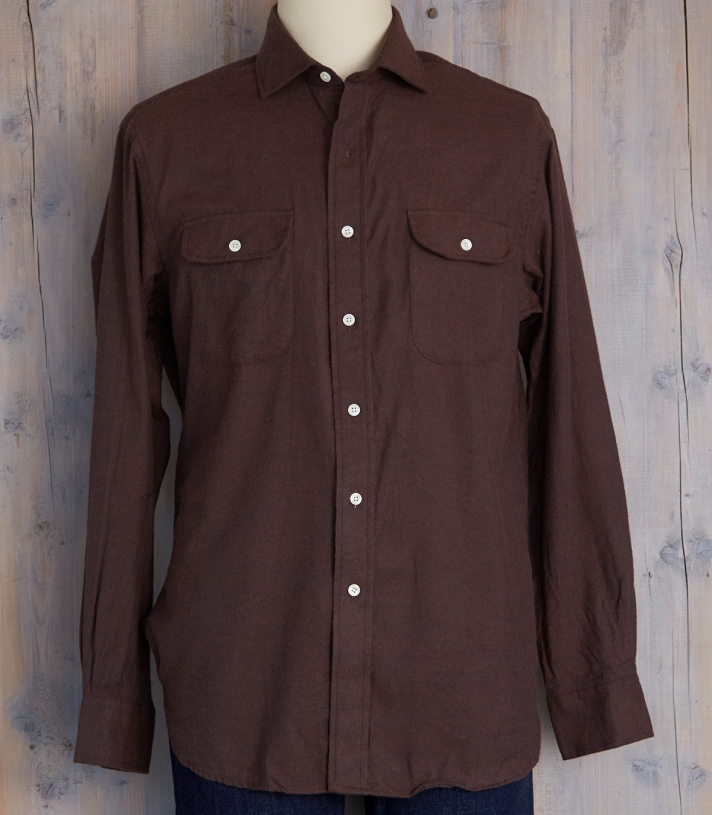 Lowell Cotton Shirt w/Pocket/Flap Made in USA | Ramblers Way