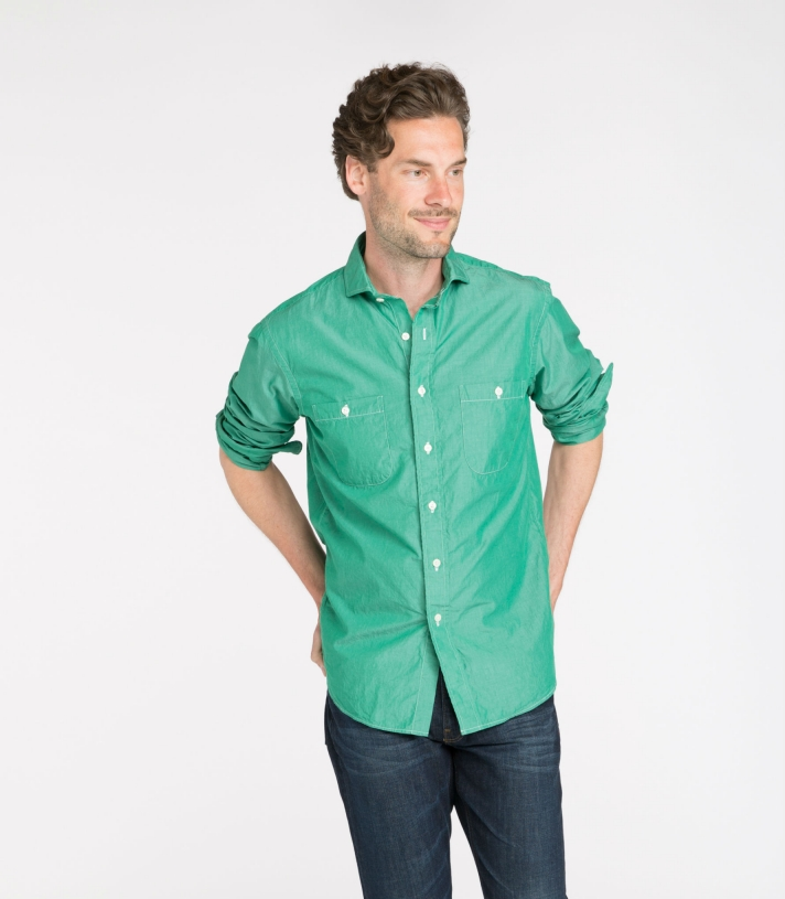 Brad Cotton Shirt Long Sleeve Made in USA | RAMBLERS WAY