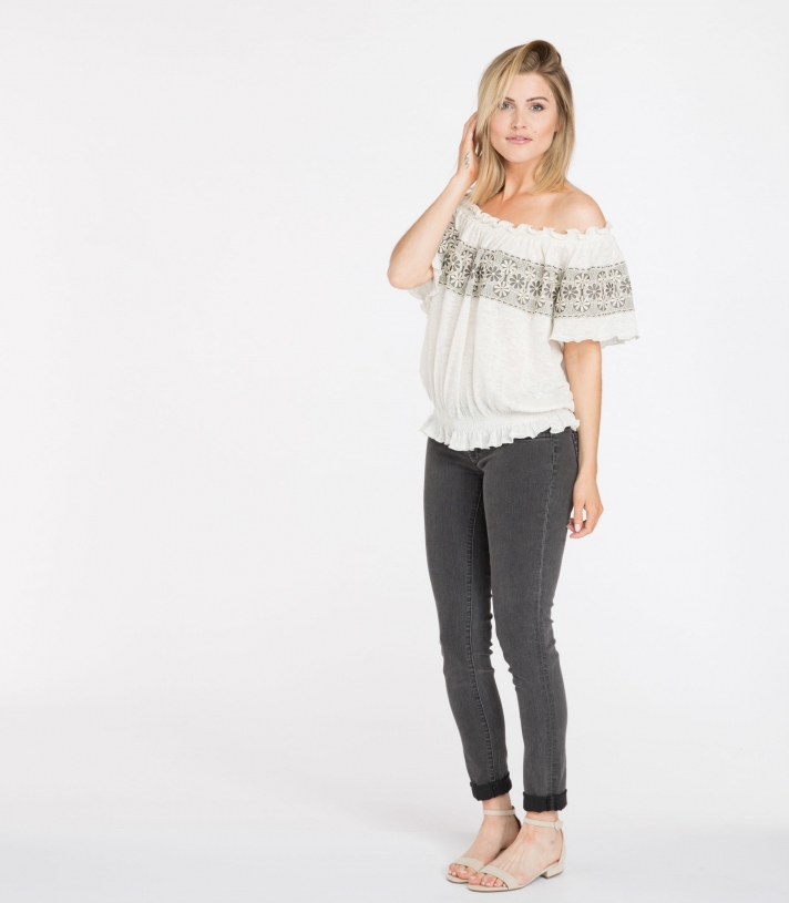 Linen Jenna Blouse - Final Sale Made in USA | RAMBLERS WAY