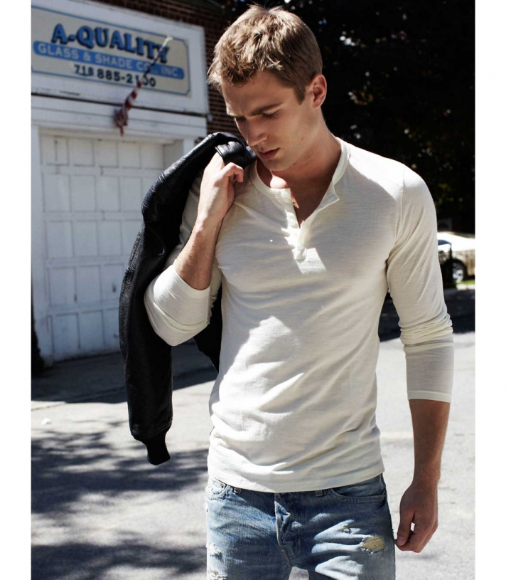 Wool Henley Made in USA | RAMBLERS WAY
