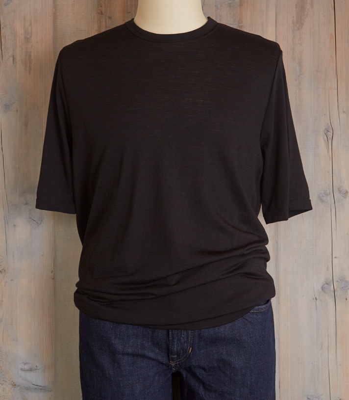 Wool Crew Neck Tee - Short Sleeve Made in USA | Ramblers Way