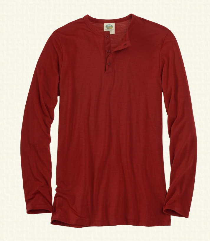 Wool Henley - Long Sleeve Made in USA | Ramblers Way