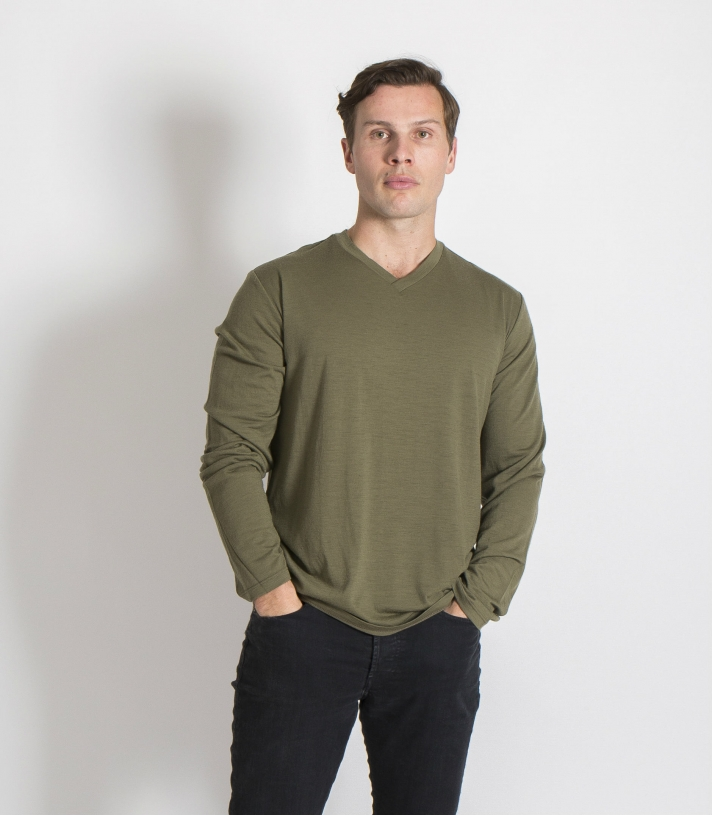 Wool Cross Neck - LS Made in USA | Ramblers Way
