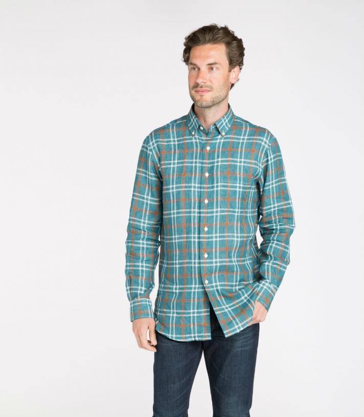 James Linen Button Down Made in USA   RAMBLERS WAY