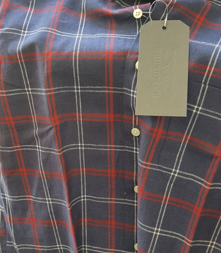 James Linen Button Down SS Made in USA | Ramblers Way