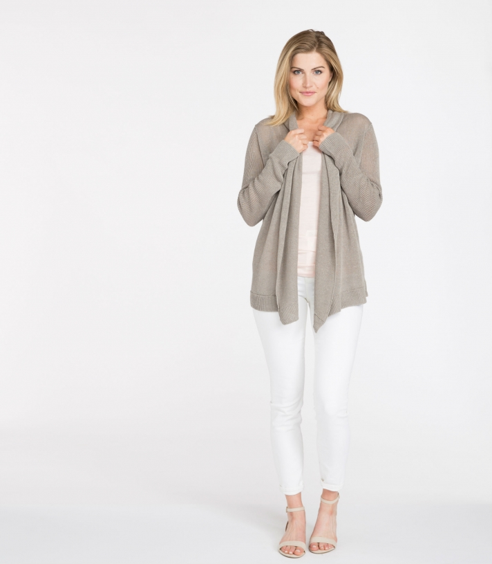 Linen Wrap Cardigan Made in USA | Ramblers Way