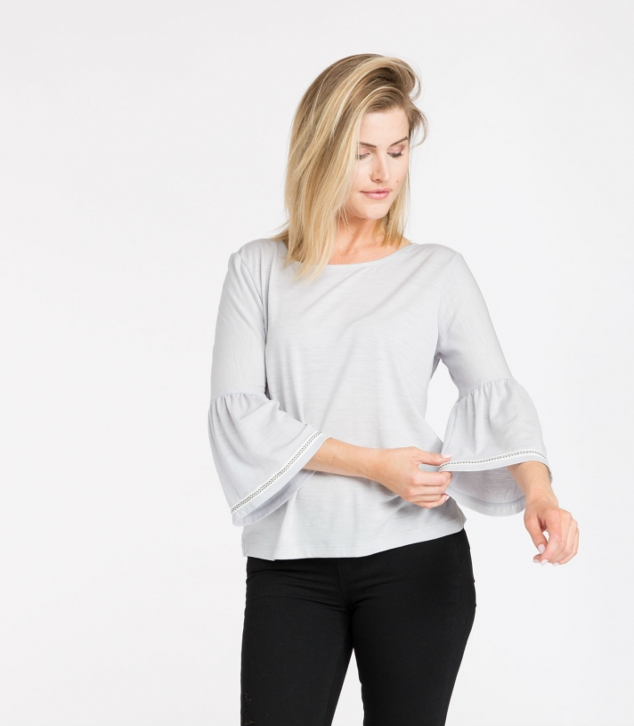 Organic Wool Bella Blouse Made in USA | Ramblers Way